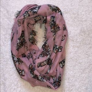 "BCBGeneration ""Love"" infinity scarf in pink NWOT"